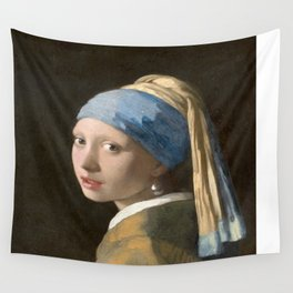 Girl with a Pearl Earring (1665), Old Masters Collection Wall Tapestry