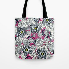 succulents pink chartreuse star Tote Bag
