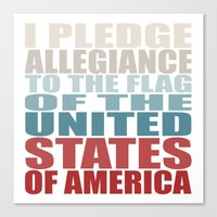 america Canvas Prints featuring America by Jason Michael