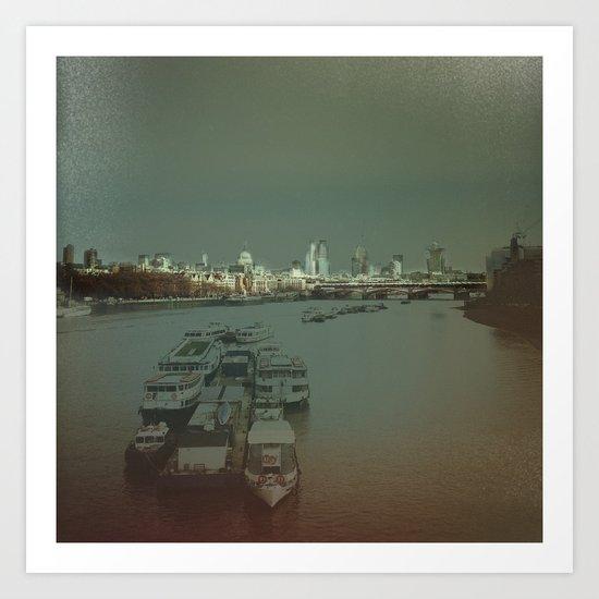 Light Up London. Art Print
