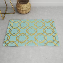Silver and gold chains Rug
