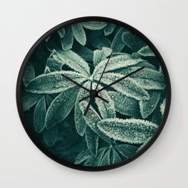 Frozen Greens Wall Clock
