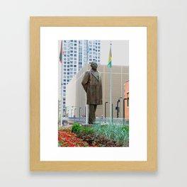 Benito Juarez Sculpture Framed Art Print