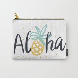 Aloha lettering and pineapple Carry-All Pouch