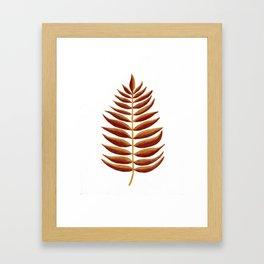 Gold and Copper Palm Leaf Framed Art Print