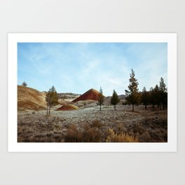 Wandering the Painted Hills of Oregon  Art Print