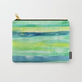Spring Colors Stripes Pattern Blue Green Yellow Carry-All Pouch