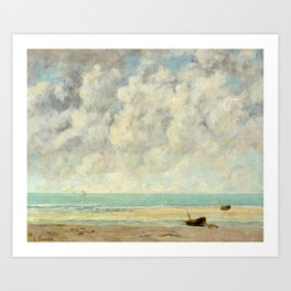 "Gustave Courbet ""The Calm Sea, 1869"" Art Print"