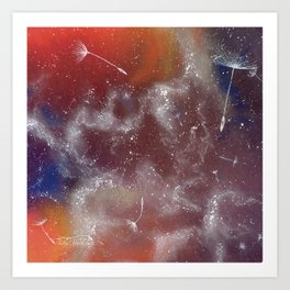 Cosmic seeds Art Print