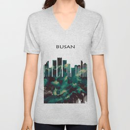 Busan Skyline Unisex V-Neck