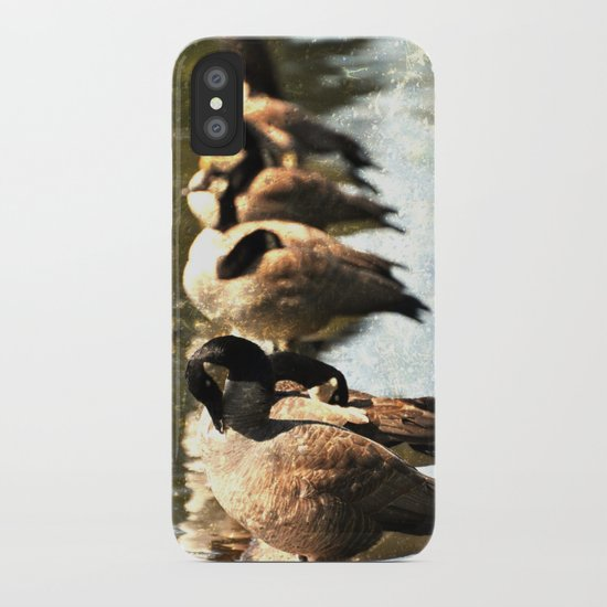 GEESE ON A LOG iPhone Case