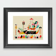 Wired Jungle Framed Art Print