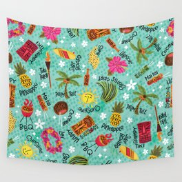 It's A Tiki Party! Wall Tapestry