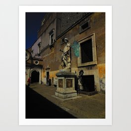 Statue of Archangel Michael, Rome, Italy Art Print