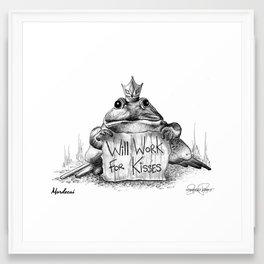 MORDECAI Frog Prince Print Framed Art Print