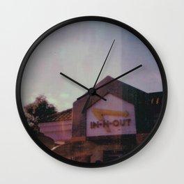 in-n-out burger - san diego - california - mission bay - polaroid print Wall Clock