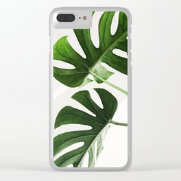 CloseUp Monstera Clear iPhone Case
