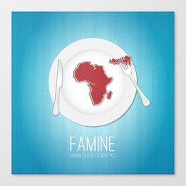 Famine Canvas Print