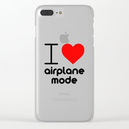 I (Heart) Airplane Mode Clear iPhone Case