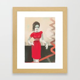 you could make you some friends Framed Art Print