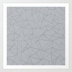Ab Linea Grey Art Print