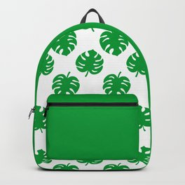 Philodendrons Pattern - Green on White Backpack
