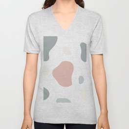 Moo patches - Coral colour series  Unisex V-Neck