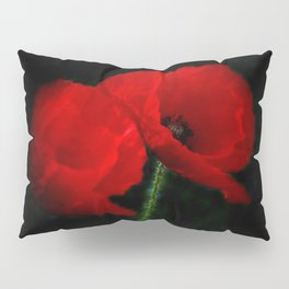 poppies with opart frame Pillow Sham