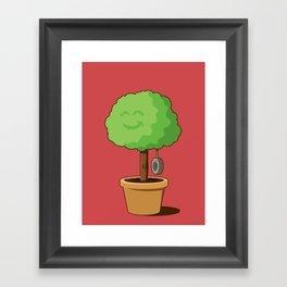 Playful plant Framed Art Print