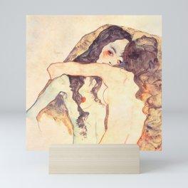"Egon Schiele ""Two women embracing"" Mini Art Print"