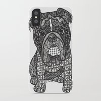 english bulldog iPhone & iPod Cases featuring  Inspired English Bulldog by DiAnne Ferrer