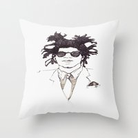 basquiat Throw Pillows featuring Basquiat by K.Fields