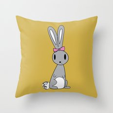 Jelly the Bunny Throw Pillow