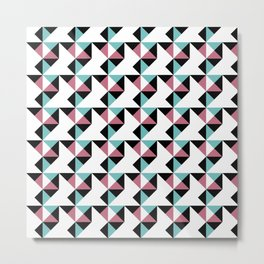 A simple geometric pattern . Triangles . 2 Metal Print