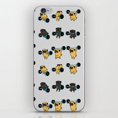 OLYMPIC LIFTING PUGS iPhone & iPod Skin