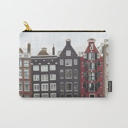 Buildings In Amsterdam City Picture | Dutch Canals Colorful Architecture Art Print | Europe Travel Photography Carry-All Pouch