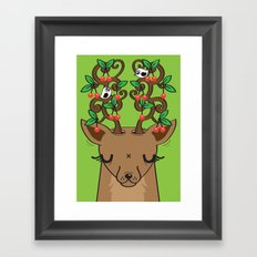 Love with Cherries on Top Framed Art Print