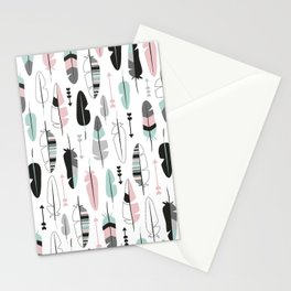 Arrows and feathers summer pattern Stationery Cards
