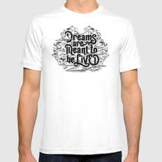 Dreams White Mens Fitted Tee MEDIUM