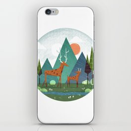 Deer and son iPhone Skin
