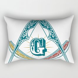 Square and Compass - freemasonry Rectangular Pillow