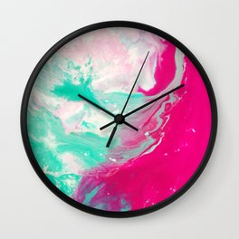 Abstract Marble Colorful Wall Clock