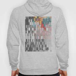 Vibrant Graffity on Black and White Geometry Hoody