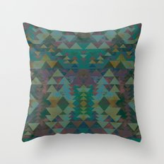 Delta Tribe - Green Throw Pillow