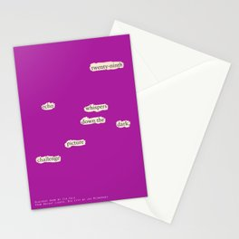 Blackout Poem {002.} Stationery Cards