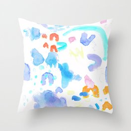Watercolor Abstract Splash Throw Pillow