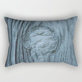 Frosted blue weathered wood Rectangular Pillow
