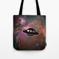 ufo Tote Bags featuring UFO by Ace of Spades