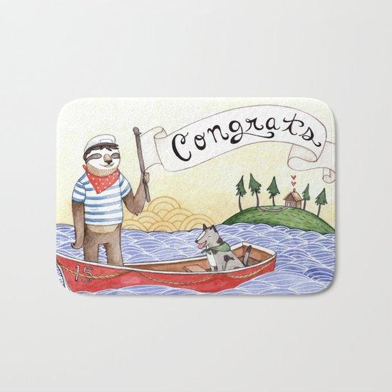 Sloth Congrats Bath Mat