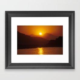 Beautiful Sunset - Red #2 Framed Art Print